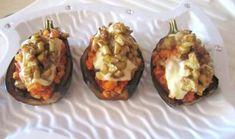 Patlıcan Kayıkta Makarnalı Tavuk Tarifi