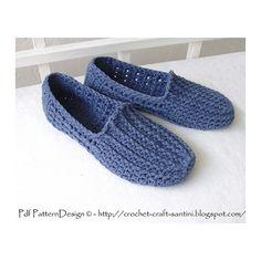 Ravelry: Denim Loafer-Espadrilles - BASIC Crochet  SLIPPER PATTERN pattern by Ingunn Santini