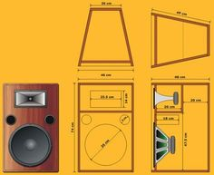 Music Speakers, Sound Speaker, Diy Speakers, Built In Speakers, Horn Speakers, Subwoofer Box Design, Speaker Box Design, Audio Box, Car Audio