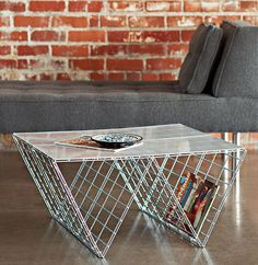 This coffee table actually doesn't require any tools. | The 52 Easiest And Quickest DIY Projects Of All Time