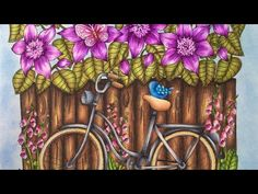 BLOMSTERMANDALA - TWILIGHT GARDEN by Maria Trolle - prismacolor pencils - YouTube