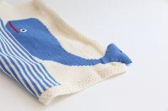 Organic Whale Snuggle Blanket