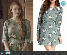 Lydia's green floral dress on Teen Wolf.  Outfit Details: http://wornontv.net/50585/ #TeenWolf