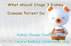 What should Stage 3 Kidney Disease Patient Do