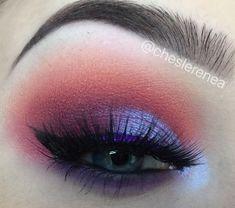 MUA IG: cheslerenea Warm tones are my favvvvv. / juvia's place / morphe / morphe35b / fall / makeup / eye / purple / red / glitter / look / smokey eye / eyeshadow / warm / holiday / sunset #makeuplookseveryday
