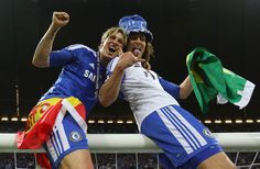 Fernando Torres & David Luiz - Chelsea wins Champions League