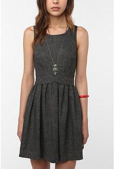 Urban Outfitters Cooperative Backless Tweed Dress