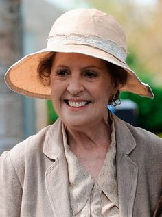 On the set of Downton Abbey Series 5 Isobel Crawley