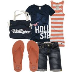 nothing beats a summer night walking the boardwalk in this Hollister outfit
