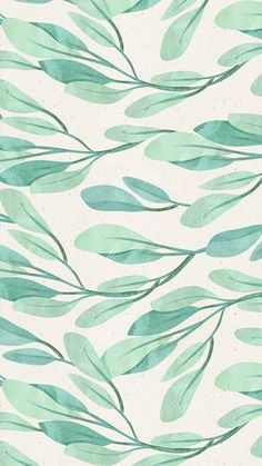 iPhone wallpaper with a pattern of leaves and branches in pastel colors Cute Backgrounds, Wallpaper Backgrounds, Iphone Wallpaper, Leaves Wallpaper, Cellphone Wallpaper, Simple Wallpapers, Pretty Wallpapers, Whatsapp Wallpaper, Leaf Texture
