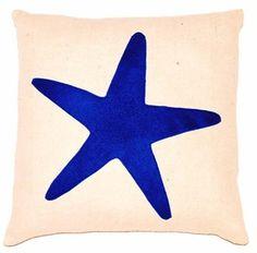 beach decor blue starfish