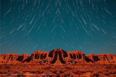 Star trails over Red Rock Canyon #photography #nature