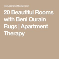 20 Beautiful Rooms with Beni Ourain Rugs | Apartment Therapy