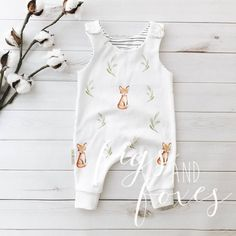 """Featuring the adorable F&F exclusive - our """"King Fox"""" print. Made with GOTS certified organic knit produced in the US. NOT reversible - the inner linin Toddler Outfits, Baby Boy Outfits, Kids Outfits, Baby Boy Romper, My Baby Girl, Baby Rompers, Baby Baby, Baby Girl Fashion, Kids Fashion"""