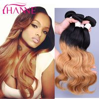 Ombre Brazilian Hair Body Wave 3 Bundles 6A Two Tone Brazilian Hair Weave T1B 27 Blonde Brazilian Body Wave Ombre Human Hair