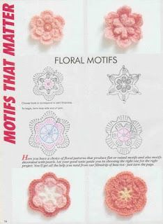 Letras e Artes da Lalá: Flores de crochê