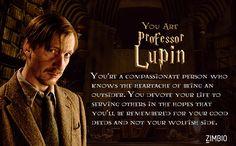 I took Zimbio's 'Harry Potter' Professor quiz and I am Professor Lupin! And you?  - Quiz