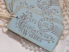 6 Best Christmas Wishes Postage Gift and Favor Tags
