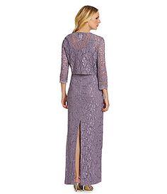 Alex Evenings Sequined Lace Jacket Dress #Dillards