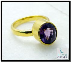 Amethyst Gems 18 C Yellow Gold Plated Memento Mori Ring Sz 5 Gprame5-0206 http://www.riyogems.com