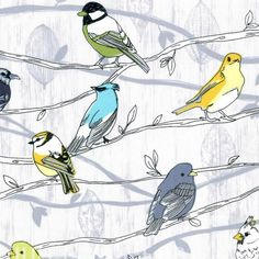 Fabric... Branching Out Dove in Silver by Hoffman Fabrics