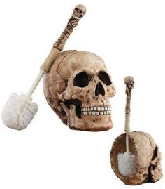 ☆ Skull Head Bathroom Scrub Brush ☆