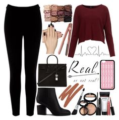 """""""Fall Outfit!"""" by inyene105 ❤ liked on Polyvore featuring moda, Warehouse, Laura Geller, Alexander Wang, tarte, GHD, Mally, Yves Saint Laurent, Static Nails e inyene105infall"""