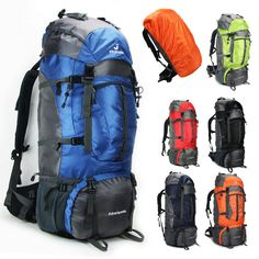 f84c6e20c2c9 80L Outdoor Sport Travel Hiking Camping Backpack big Rucksack Bag  Waterproof Cv