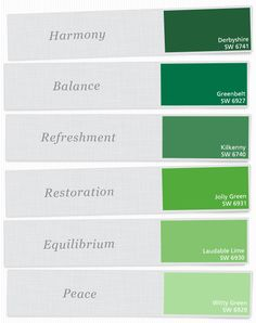 Just A Few Of Our Favorite Green Paint Colors Sherwinwilliams