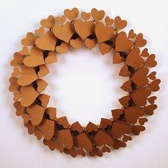 Recycled Cardboard Heart wreath
