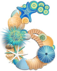 Transparent Number Six Sea Style PNG Clipart Picture