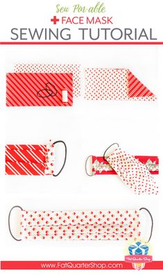 FREE Face Mask Sewing Tutorial with Hair Ties & Size Options - The Jolly Jabber Quilting - Diy and crafts interests Couture Main, Diy Couture, Fabric Crafts, Sewing Crafts, Sewing Projects, Easy Face Masks, Diy Face Mask, Face Diy, Homemade Face Masks