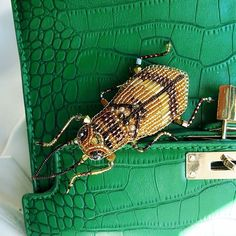 Жук пристроился на зеленой сумке)) кстати, зеленая сумка оказалась очень…