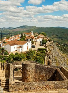 Village of Marvão, Alentejo region, Portalegre district, Portugal is situated atop a rocky mount at 860m of altitude.  The village was established by the Arab Ibn Maruan (IX century). #portugaltravel
