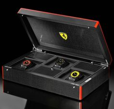 Ferrari Online Store: Apparel, accessories and merchandise by Ferrari. Enter the Official Ferrari Online Store and shop securely! Watch Box, Watch Case, Ferrari Watch, Watch Storage, Timing Is Everything, Limited Edition Watches, Watch Brands, Jewellery Display, Vintage Watches