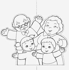 Preschool Learning Activities, Autumn Activities, Preschool Activities, Coloring Sheets For Kids, Animal Coloring Pages, Family Theme, Grands Parents, Grandma Cards, Doodle Designs