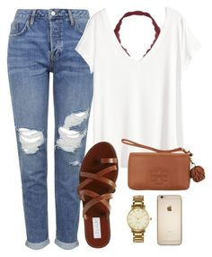 Read D! by abbybp42 on Polyvore featuring H&M, Topshop, Steve Madden, Tory Burch and Kate Spade