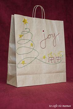 Χριστουγεννιάτικες τσάντες δώρου. - To Cafe tis mamas