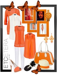 """""""etcetera summer orange"""" by lee522 ❤ liked on Polyvore"""