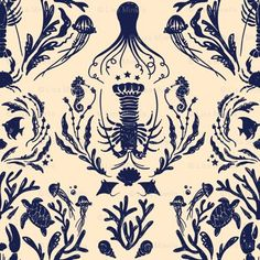 Tastefully done and fabulous nautical/ocean creature theme.