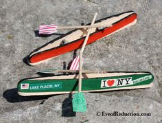 How to make a Popsicle Stick Canoe Craft - Eve of Reduction.making for Camp Tilikum craft