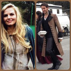Emma and Hook are dressed in the same period clothing? Or does this have to do with the wedding?