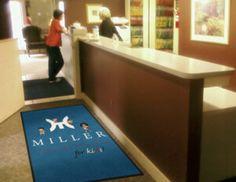 miller Dental Office Logo Rug