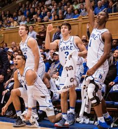 Luke Kennard, Jayson Tatum, Grayson Allen and Harry Giles | all of them are 100% for Duke 100% of the time. Love watching these guys and cant wait until Allen and Giles are healthy again. Plus these guys have strong shoe game ☝