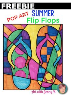 FREE summer flip flop interactive and pattern filled coloring sheet design (or have them draw their own shoes!)