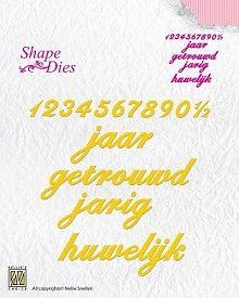 (blad-9) Nellie Snellen Shape Die Jubileum Verjaardag (SD064)