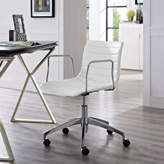 Shop Modway Furniture Celerity White Office Chair with great price, The Classy Home Furniture has the best selection of Office Chairs to choose from Black Office Chair, White Office, Grey Chair, Office Chairs, Office Decor, Modern Home Office Furniture, Contemporary Furniture, Adjustable Office Chair, Conference Room Chairs