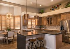 We designed this gorgeous kitchen in the Foothills. Check out the link for more photos of the house!  For award winning interior design, call us at 480-924-4221 today!  https://www.houzz.com/projects/2415792/foothills-residence