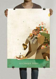 Le Cinque Terre by Riccardo Guasco, via Behance