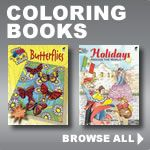 Dover Publishing has the BEST   Coloring books, really neat books on Illustration & design, and they're cheap!